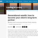 Inman Article | Generational Wealth: Building Perennial Relationships